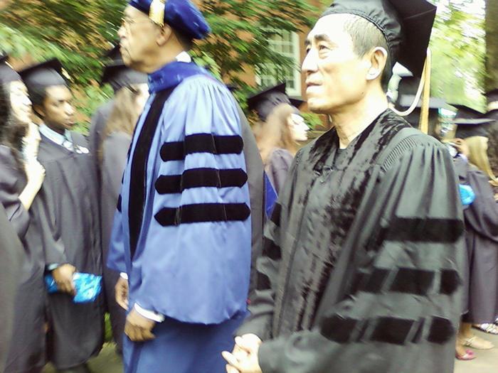 Zhang Yimou about to receive an honorary doctorate in 2010.