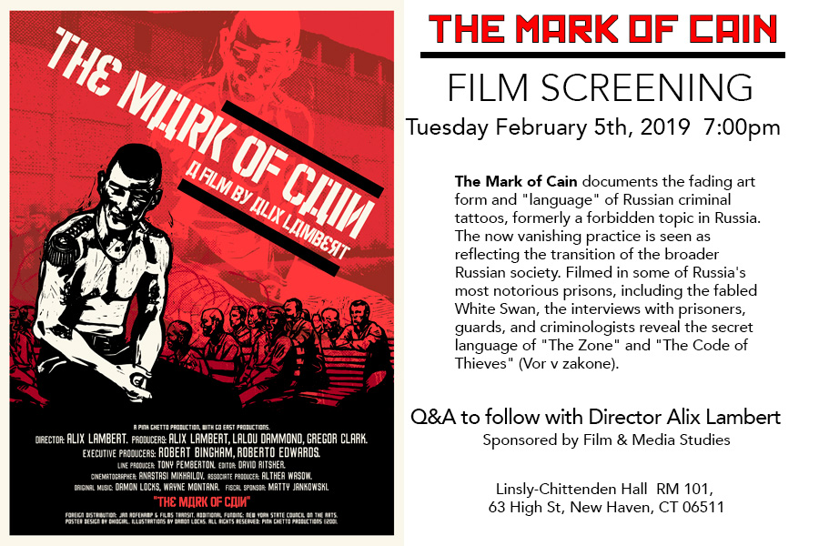 Screening of the Mark of Cain by Alix Lambert | Film and